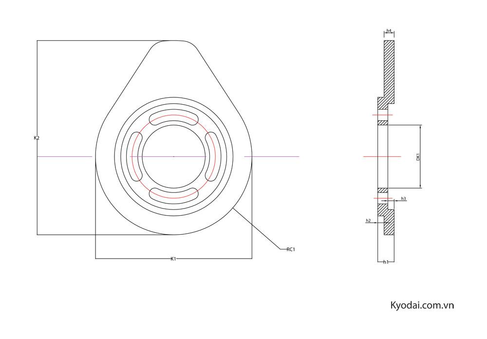 Bản vẽ kích thước cam uốn KYO-CU01